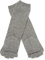 Qi Women's Cashmere Donegal Long Pop-Over Gloves