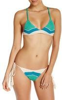 Vitamin A Nightbird Crochet Knit Tie Triangle Bikini Top