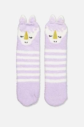 Cotton On Dino Slipper Socks