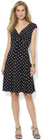 Lauren Ralph Lauren Petite Polka-Dot Cap-Sleeve Dress