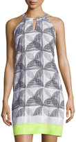 Laundry by Shelli Segal Printed Halter Shift Dress, Lime Punch/Multi