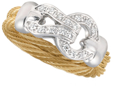 Alor Classique Diamond Stainless Steel 18K Gold Ring