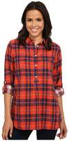 Hatley Plaid Pop Over Top