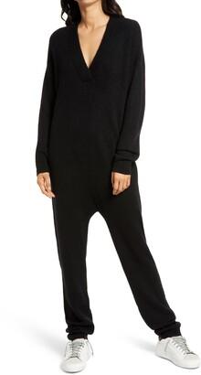 Treasure & Bond Cozy Long Sleeve Sweater Jumpsuit