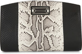 Max Mara Snake-embossed leather clutch