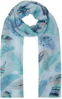 Yours Clothing YoursClothing Plus Size Womens Shawl Ladies Feather Print Scarf