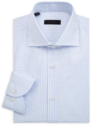 Saks Fifth Avenue Windowpane Check Cotton Shirt