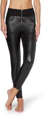 Calzedonia Crocodile Leather-Effect Denim Leggings