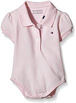Tommy Hilfiger Baby Girls Basic Polo Body S/s Shirt, Pink (Ballerina), 74