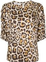 Christian Dior leopard 3/4 sleeve shirt tops