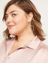 Lane Bryant Multi-Tone Hexagon Drop Earrings