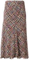 Alexander McQueen tweed fluted midi skirt