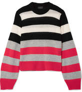 Rag & Bone Annika Striped Cashmere Sweater - Pink
