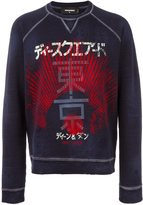 DSQUARED2 kanji contrast sweatshirt