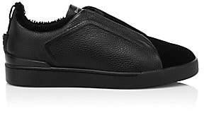 Ermenegildo Zegna Men's Triple Stitch Slip-On Sneakers