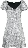 Saint Laurent short shift dress - women - Polyester - S