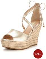 UGG Reagan Cross Front Metallic Wedge