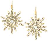Vince Camuto Gold-Tone Crystal Sunburst Drop Earrings
