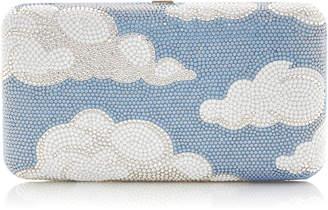 Judith Leiber Couture Clouds Smooth Rectangular Crystal Clutch Bag
