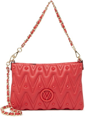 Mario Valentino Vanille Quilted Leather Crossbody Bag