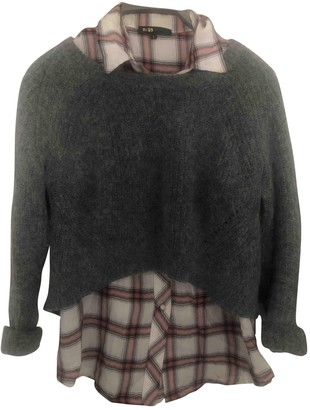 Maje Anthracite Wool Knitwear for Women