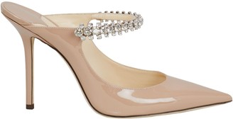 Jimmy Choo Bing Patent Crystal-Embellished Pumps