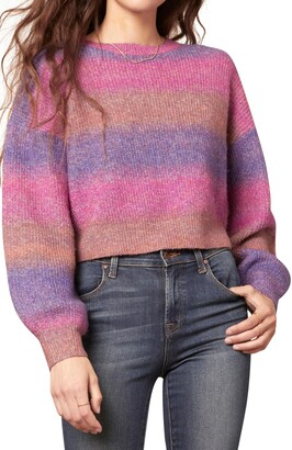 Cupcakes And Cashmere Clem Stripe Crop Sweater
