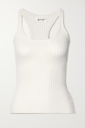 The Line By K Edie Ribbed Cotton Tank - White