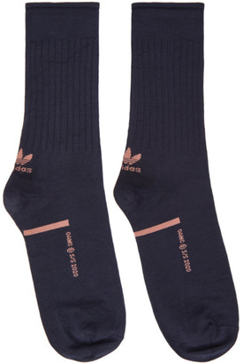 Oamc Navy adidas Originals Edition Logo Socks