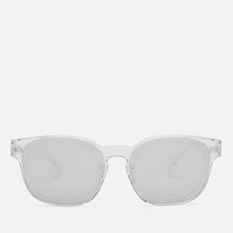 Moncler Men's Square Acetate Sunglasses - Crystal/Smoke