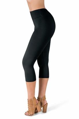 Sejora Satina High Waisted Super Soft Capri Leggings - 20 Colors - reg & Plus Size - Purple - One size