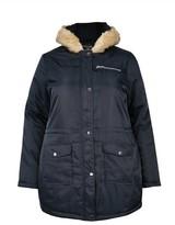 Dorothy Perkins Womens Dp Curve Navy Luxe Faux Fur Parka Coat