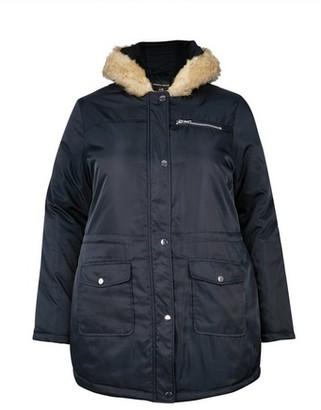 Dorothy Perkins Womens **Dp Curve Navy Luxe Faux Fur Parka Coat
