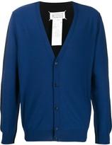 Maison Margiela bi-colour cotton blend cardigan