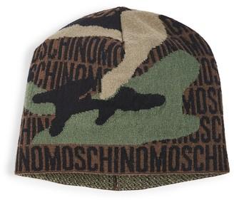 Moschino Logo Camo Beanie
