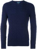 Polo Ralph Lauren crew neck longsleeved pullover - men - Cashmere - M