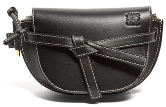 Loewe Gate Mini Woven-leather Belt Bag - Black