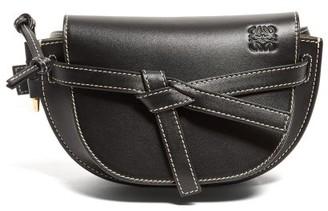 Loewe Gate Mini Woven-leather Belt Bag - Womens - Black