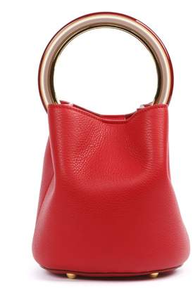 Marni Red Pannier Leather Hand Bag