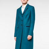 Paul Smith Women's Teal Wool-Cashmere Epsom Coat