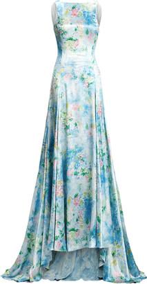 Ralph Lauren Nancie Floral Evening Dress