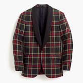 J.Crew Ludlow shawl-collar tuxedo jacket in plaid Italian wool