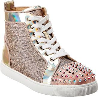 Christian Louboutin Lou Spikes Krystal Donna Patent Sneaker