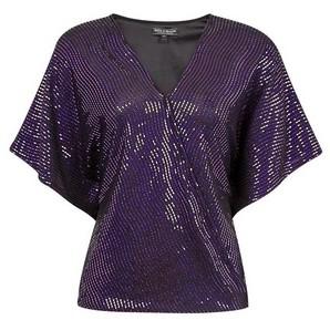 Dorothy Perkins Womens **Billie & Blossom Purple Foil Batwing Top, Purple