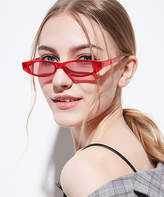 Flowerhorse FlowerHorse Women's Sunglasses red/white - Red & White Abstract Rectangle Sunglasses