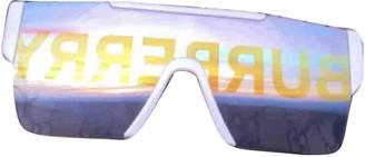 Burberry White Plastic Sunglasses