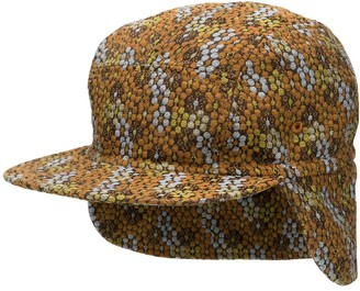 Henrik Vibskov Geometric Embroidered Flap Cap