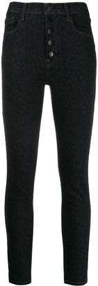 J Brand Lillie button-up skinny jeans