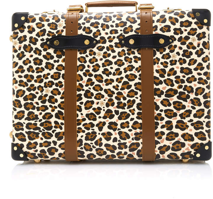 Charlotte Olympia x Globe-Trotter Leopard-Print Leather Trolley Case