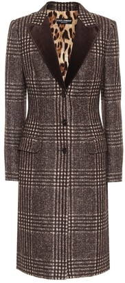 Dolce & Gabbana Checked tweed coat